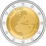 Sloveenia 2 euro 2018.a. World Day of Bees UNC