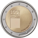 Sloveenia 2 euro 2019 University of Ljubljana UNC