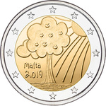 Malta 2 euro 2019 Nature and Environment UNC